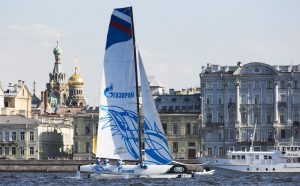 Image licensed to Lloyd Images The Extreme Sailing Series 2015 Act 6. St Petersburg. Russia presented by SAP